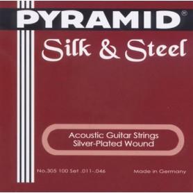 Cordes d'Acústica Pyramid Silk & Steel 11-46