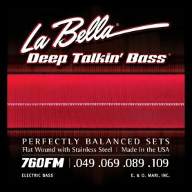 Cordes de baix La Bella Deep Talkin 'Flatwound Bass Strings 760FM 49-109