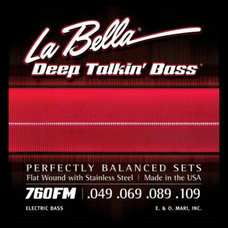 Cuerdas de bajo La Bella Deep Talkin' Flatwound Bass Strings 760FM 49-109-109_