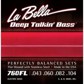 Cordes de baix La Bella Deep Talkin 'Flatwound Bass Strings 760FL 43-104