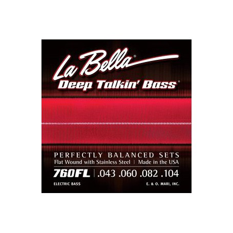 Cuerdas de bajo La Bella Deep Talkin' Flatwound Bass Strings 760FL 43-104-104