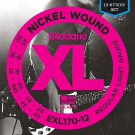 Cuerdas-Bajo-D´Addario-EXL170-12 12 String Set
