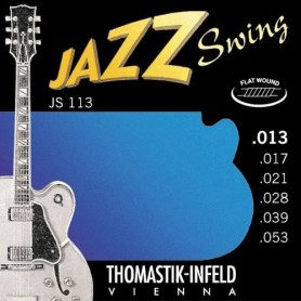 Cuerdas Eléctrica Thomastik JS113 Jazz Swing Flatwound 13-53