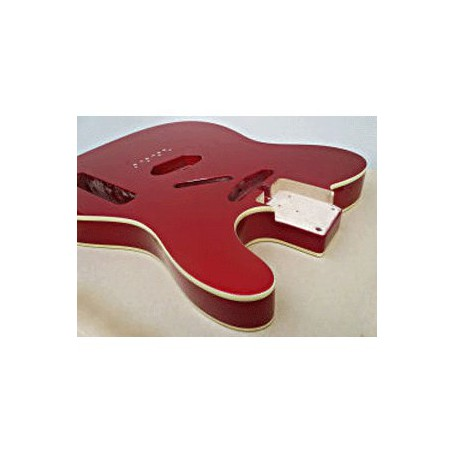 Cuerpo de guitarra Goldo tipo Tele en Aliso Candy Apple Red
