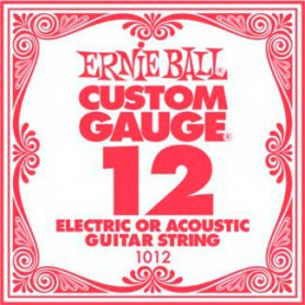 Ernie Ball 12 Single Plain Electric/Acoustic Guitar String