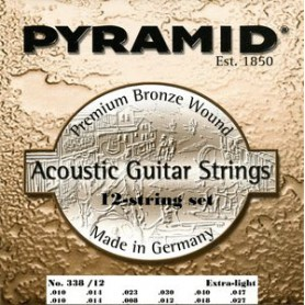 Cordes d'Acústica Pyramid Premium Bronze 12 Strings Extra Light 10-47