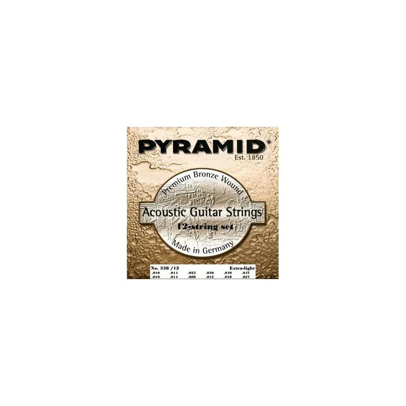 Cuerdas de Acústica Pyramid Premium Phosphor Bronze 12 Strings 10-47