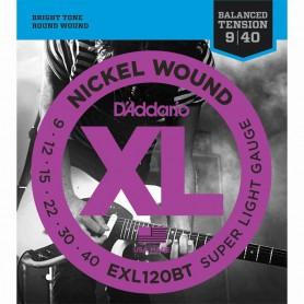 Cuerdas Eléctrica D´Addario EXL120BT 09-40 Balanced