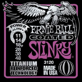 Cuerdas Eléctrica Ernie Ball 3120 Coated Titanium Power Slinky 11-48