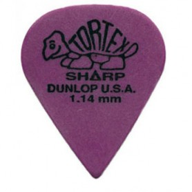 Púas Dunlop Tortex Sharp 1.14mm.