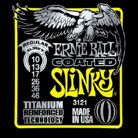 Cuerdas Eléctrica Ernie Ball 3121 Coated Titanium Regular Slinky 10-46