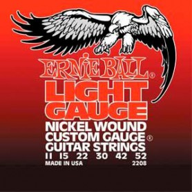 Cuerdas Eléctrica Ernie Ball 2208 Light Gauge Nickel Wound 11-52