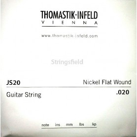 Cuerda Suelta Eléctrica Thomastik JS20 Nickel Flatwound 020