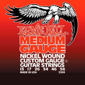 Cordes Elèctrica Ernie Ball 2204 Medium Gauge Nickel Wound 13-56