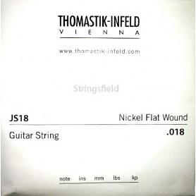 Cuerda Suelta Eléctrica Thomastik JS18 Nickel Flatwound 018