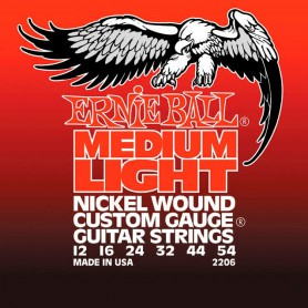 Cordes Elèctrica Ernie Ball Medium Light Nickel Wound 12-54