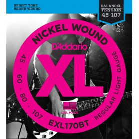 Cuerdas Bajo D´Addario EXL170BT Balanced Tension Nickel Wound 45-107