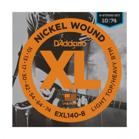 Cuerdas Eléctrica D´Addario EXL140-8 10-74 8 Cuerdas