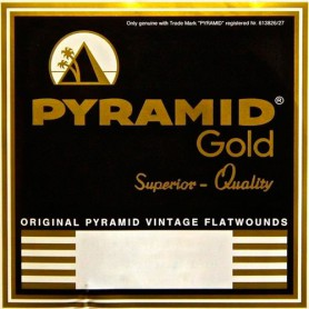 Cordes Elèctrica Pyramid Gold Flatwound 12 String Extra Light 10-42 309/12