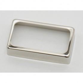 Cubierta de Pastilla Humbucker Abierta Silver Nickel 50mm.