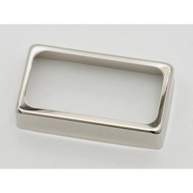 Open Silver Cover for Humbucker Pickup