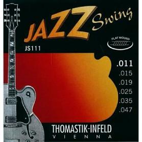 Cordes Elèctrica Thomastik JS111 Jazz Swing 11-47 entorxat Plà
