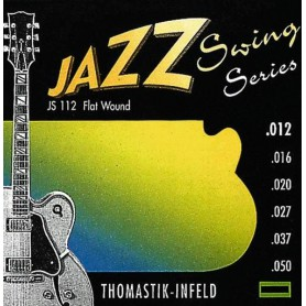 Cuerdas Eléctrica Thomastik JS112 Jazz Swing Flatwound 12-50
