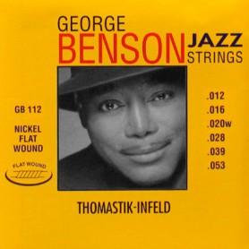 Cuerdas Eléctrica Thomastik George Benson GB112T Flatwound 12-53