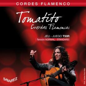 Cordes Guitarra Clàssica Flamenca Savarez Tomatito T50R Tensió Normal
