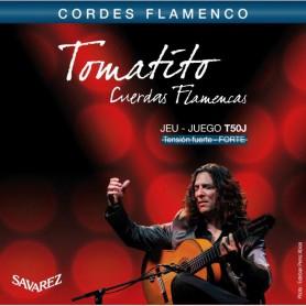 Cuerdas Guitarra Clásica Flamenca Savarez Tomatito T50J Tensión Fuerte