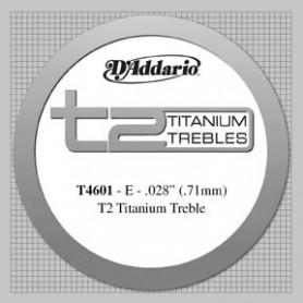 Cuerda Suelta Clásica D´Addario T4601 T2 Titanium Tensión Fuerte