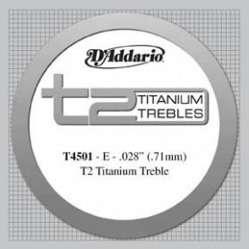Cuerda Suelta Clásica D´Addario T4501 T2 Titanium Tensión Normal