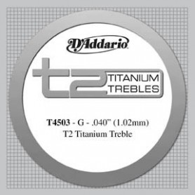 Cuerda Suelta Clásica D´Addario T4503 T2 Titanium Tensión Normal