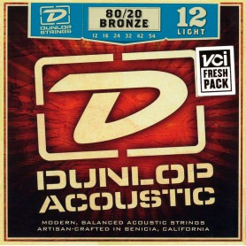Cuerdas Acústica Dunlop 80/20 Bronze 12-54