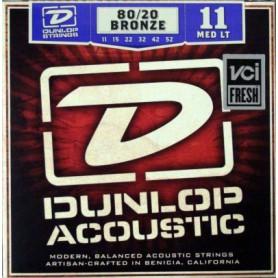Cordes Acústica Dunlop 80/20 Bronze 11-52