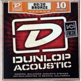Dunlop 80/20 Bronze Acoustic Strings 10-48