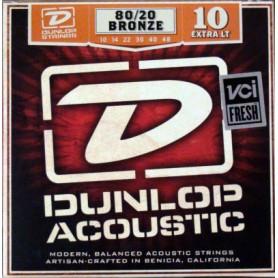 Cuerdas Acústica Dunlop 80/20 Bronze 10-48