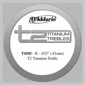 Corda Solta Clàssica D'Addario T4502 B-Si T2 Titanium Tensió Normal