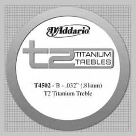 Cuerda Suelta Clásica D´Addario T4502 B-Si T2 Titanium Tensión Normal
