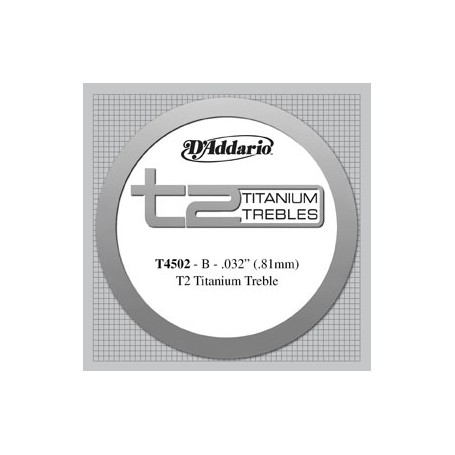 Cuerda Suelta Clásica D´Addario T4502 B T2 Titanium Normal Tension