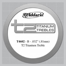 Corda Solta Clàssica D'Addario T4602 T2 B Titanium Tensió Forta