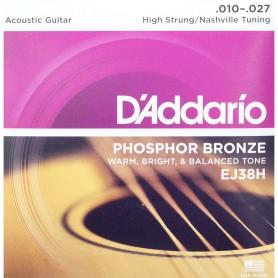 Cordes Acústica D'Addario EJ 38H Nashville Tuning 10-27