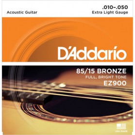 Cordes Acústica D'Addario EZ 900 Great American Bronze 80/15 10-50