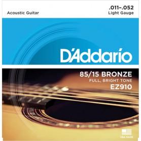 Cuerdas Acústica D´Addario EZ910 Great American Bronze 80/15 11-52