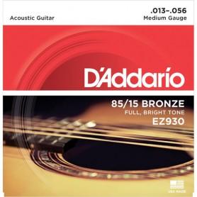 Cordes Acústica D'Addario EZ 930 Great American Bronze 80/15 13-56