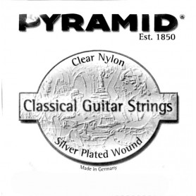 Pyramid Clear Nylon 5-A Classical Single Medium tension.