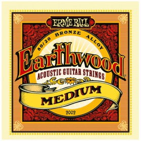 Ernie Ball 2002 Earthwood Medium Acoustic Strings 13-56
