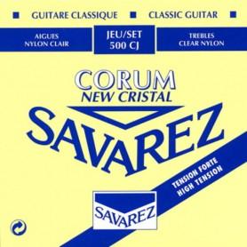 Cuerdas Clásica Savarez 500CJ New Cristal Corum Tensión Fuerte