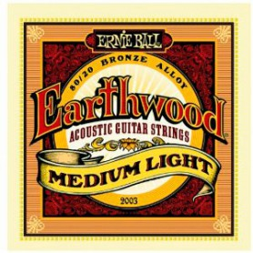 Ernie Ball 2003 Earthwood Medium Light Acoustic Strings