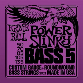 Cuerdas Bajo Ernie Ball Power Slinky 2821 50-135 5 Strings